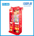 customized cardboard hanging snack packing display racks