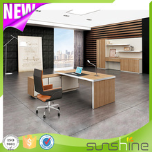 Aluminum edge design BS-D2410 with aluminum edge banding office furniture modern office desk