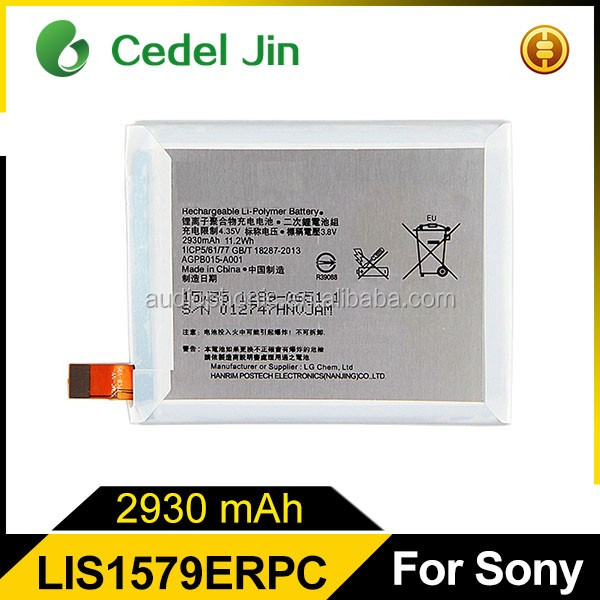 China mobile phone rechargeable battery for Sony Xperia Z4 battery manufacturer