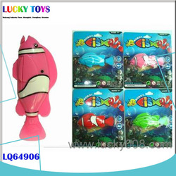 New Products vinyl fish wholesale electric swimming robotic fish toy with light