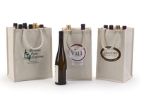 China supplier cotton canvas wine tote bag wholesale