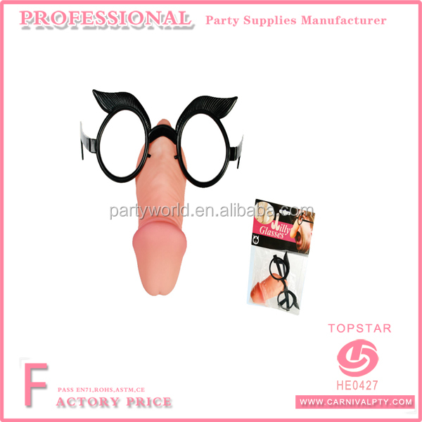 Willy Dick Nose Party Novelty Glasses