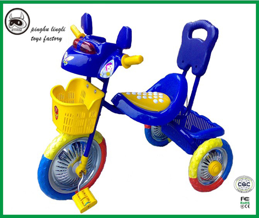 LL629 Pinghu Lingli baby ride car baby plastic pedal tricycles 3 wheel tricycle with high quality plastic
