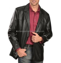 Best selling classic leather blazer for man