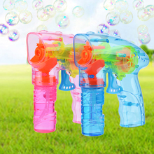 Wholesale high quality children transparent led soap bubble gun