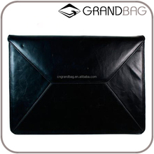 Genuine Leather Laptop Sleeve flip Envelope bag Case for 13.3-Inch Notebooks