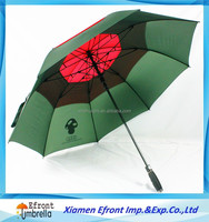 Double layer silica gel handle Top Quality Strong and durable windproof golf umbrella