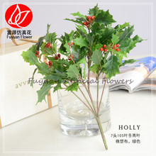 343-310-810-080 factory direct sale cheap price china export fake green artificial holly leaf