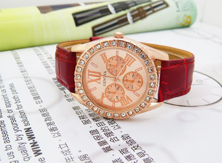 GW26 Japanese Movement Quartz Watches Fashion Classic Unisex Dress Watch With Genuine Leather Strap
