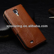 for Galaxy S4 Wallet Genuine leather case, Leather case for Galaxy S4
