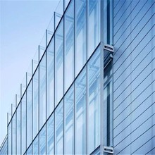 Hot selling Clear Frameless Glass Curtain Wall