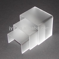 Set of 3 frost acrylic display riser