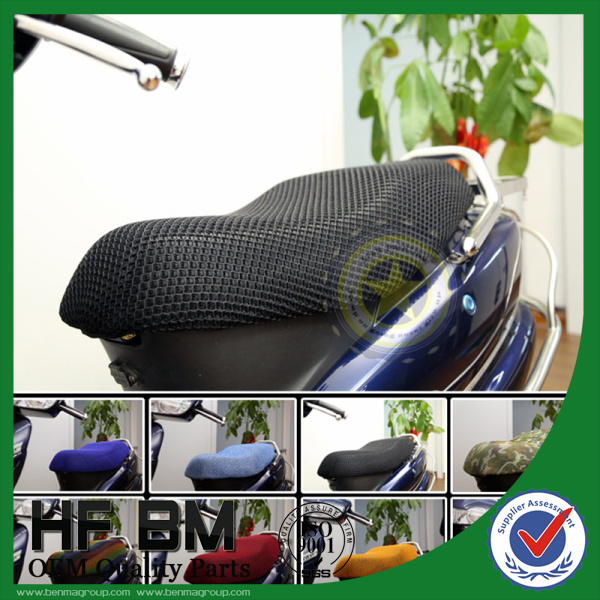 colorful motorcycle seat net cover with six colors waterproof,mesh fabric seat cover for motorcycle,skidproof!