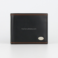 Export Offer New Black Men Genuine Cow Leather Wallet
