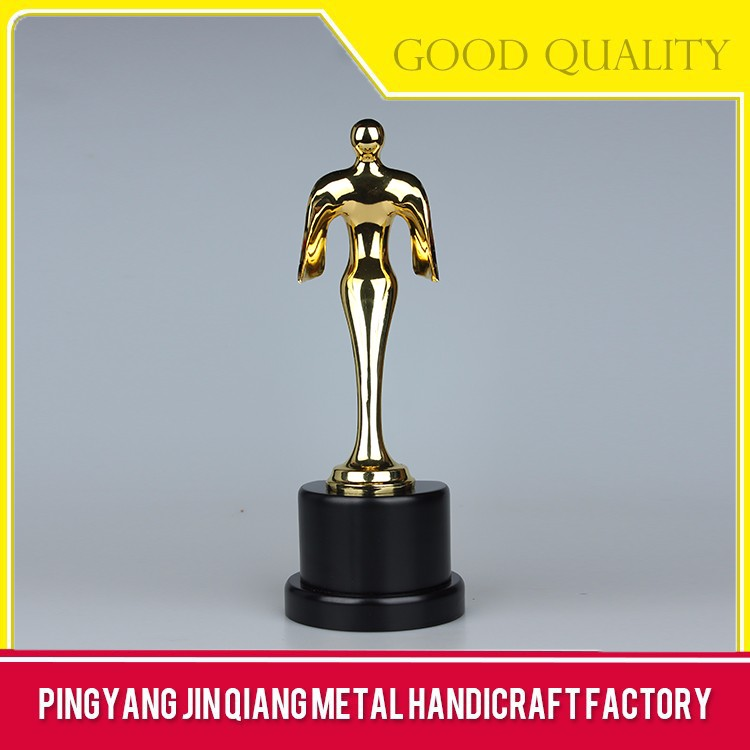 Good Quality Low Price Golden Metal Trophy And Awards For Gift