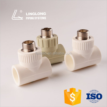 PPR material male threaded tee pipe fitting
