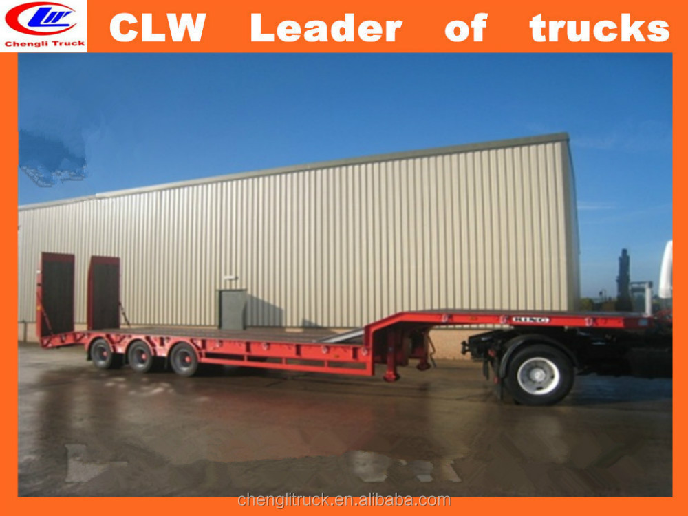 3 Axle Extentable hydraulic 50ton Low bed Semi Trailer for sale