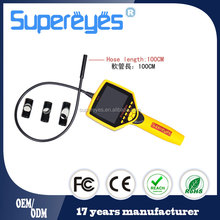 "Supereyes N014 3.5"" monitor 9mm lens waterproof video endoscope sanke tube inspection camera borescope with memory SD card"