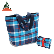 Polyester Textile Eco Reusable Recycle Folding Foldable Shopper Shopping Bag