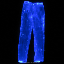 luminous pants with fiber optical fabric glow-in-the-dark LED light up trousers