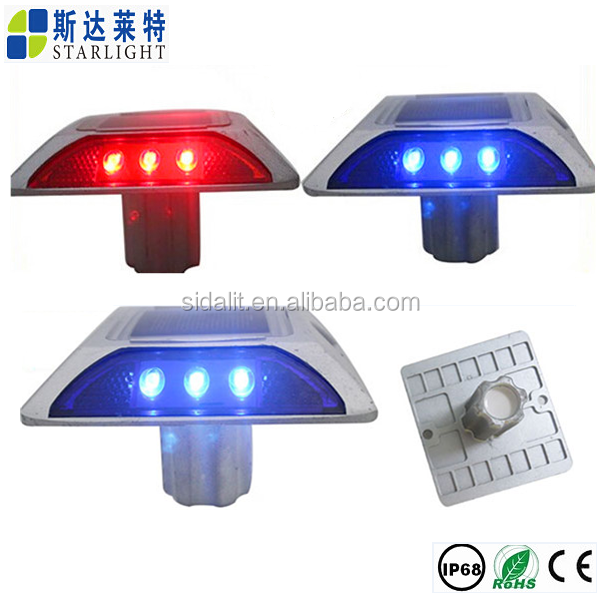 Ip68 epoxy glue and aluminum led road mount solar stud