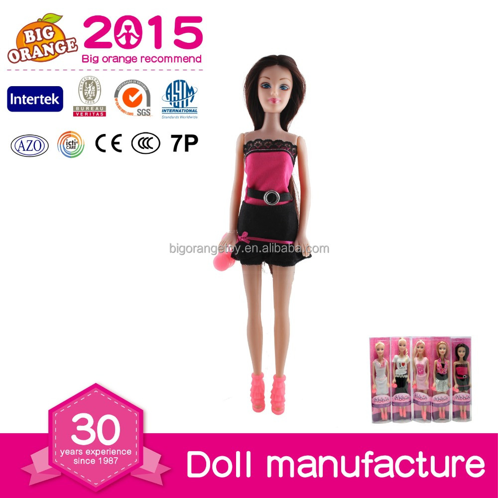 Fashion Dresses Young Girl Dolls Silicone Raw Material Doll Wholesal Doll Toys