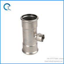 stainless steel 316 press fittings reducer tee wtih DVGW