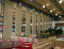 UK standard dinner room acoustic partition wall soundproof wooden movable partition wall with high quality