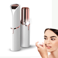 2018 amazon hot selling lady lipstick hair reomover lady face epilator shaver epilator facial hair removal