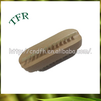 2016 newest style ECO bamboo round folding hair brush with mirror