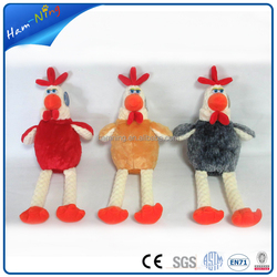 25cm plush chicken christmas plastic zip lock plush gift bag with drawstring