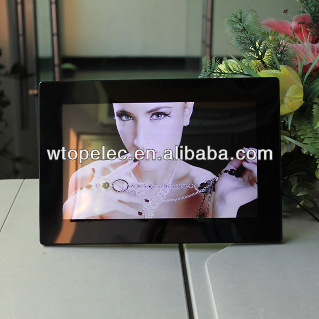 Hot selling gif jpeg digital photo frame 10 inch 16:10ratio