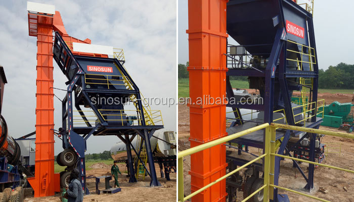 80TPH mobile asphalt mixing plant MAP1000 for sale