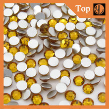 16MM 1440Pcs Round Shape Flatback Rhinestone Beads Flat Back Stick On t Jewelry DIY Fit Glue