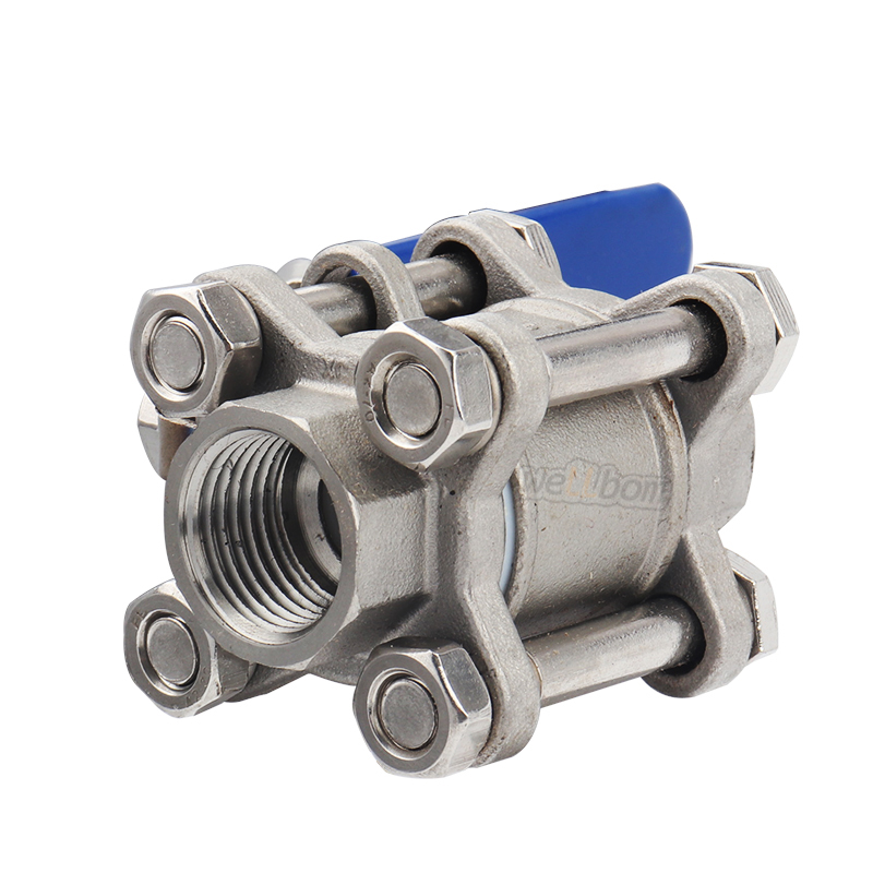 "Stainless Steel 304 3-piece Ball Valve 3/4"" BSP 1000 psi WOG Kettle Ball Valve Home Brewer Hardware"