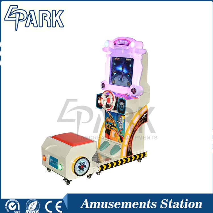 Indoor 3D arcade attractive driving simulator King kong chariots racing car game machine amusement for kids Toy