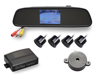 DS-6500 4.3inch rearview mirror with video parking sensor .camera