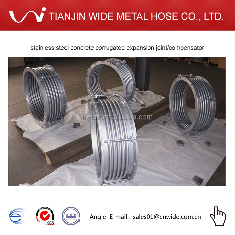 stainless steel concrete corrugated expansion joint