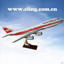 CUSTOMIZED LOGO RESIN MATERIAL large scale toy model airplane