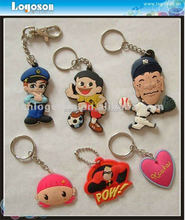 2017 Custom Promotional Gift Rubber Keychain