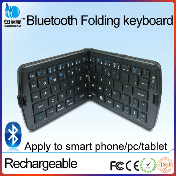 wholesale vatop rechargeable white and black portable wireless mini foldable bluetooth 4.0 keyboard for ipad mobile phone