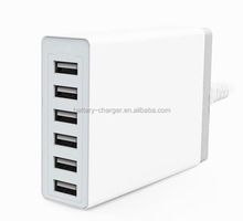 60 Watt (10 Amp) 6-Port Family-Sized USB Rapid Charger