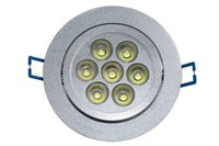 most popular ceiling led light, 7w 90mm open hole aluminum cover light