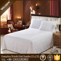 High quality pure white 100% cotton fabric bed sheet for hospital