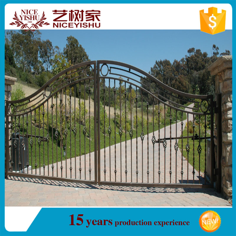 Quality products single wrought iron gate for good sale for Single gate designs for homes