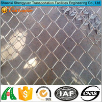 Galvanized Lowes Chain Link Fence Panel With Angle Post
