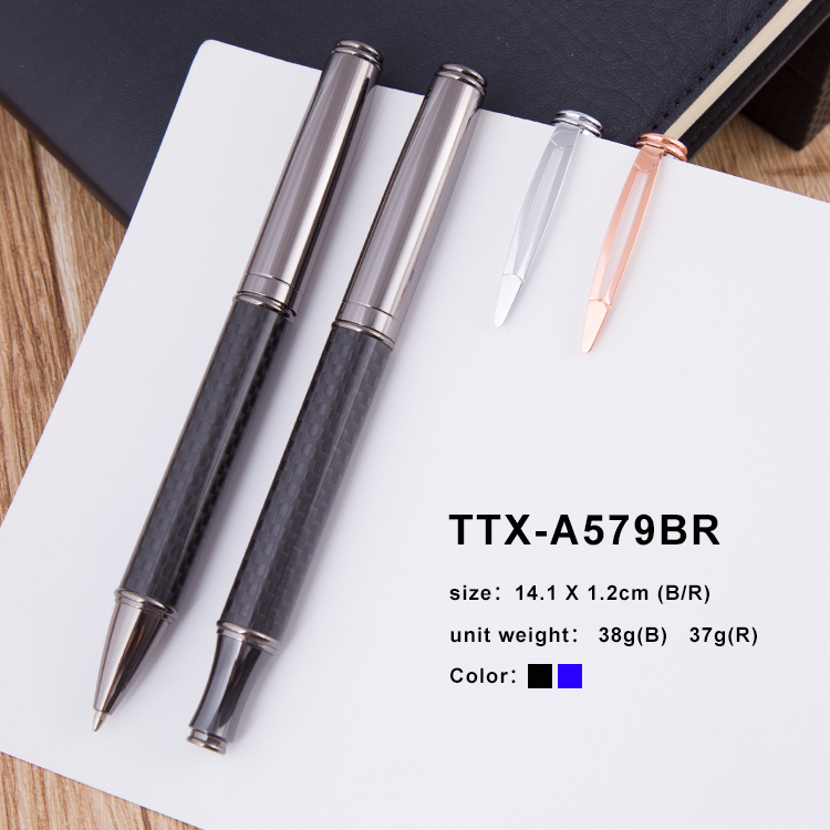 2018 New Arrival Carbon Fibre Metal Roller Pen For Promotion Gift