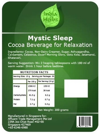 Mystic Sleep Cocoa Beverage Mix for Relaxation