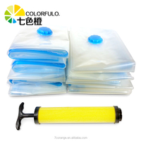 Factory price high quality large vacuum storage bag with pump