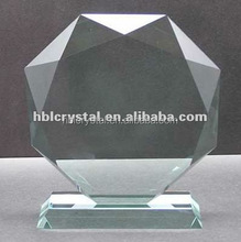 beautiful octagonal blank jade glass award plaque